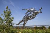 Bunny Foo Foo sculpture at the Hall Winery in Napa Valley — Stock Photo