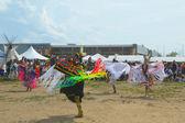 Les danseurs amérindiens non identifiés à la new york pow wow — Photo
