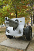 Old canon. This is M1918 155mm Howitzer was used in both WWI and WWII — Stock Photo