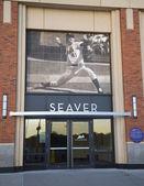 Seaver entrance at the Citi Field, home of major league baseball team the New York Mets — Stock Photo