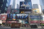 Broadway signs in Manhattan — Stock Photo