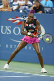 Nine times Grand Slam champion Venus Williams during first round doubles match with teammate Serena Williams at US Open 2013 — Stock Photo
