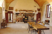 The Ancient Kitchen at Chateau de Pommard winery — Stock Photo