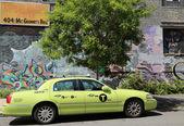 "New green-colored ""Boro taxi"" in New York — Stock Photo"