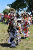 Unidentified Native American dancers at the NYC Pow Wow — Stock Photo