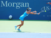 Professional tennis player Julia Goerges during first round match at US Open 2013 — Stock Photo