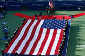 The opening ceremony before US Open 2013 men final match at Billie Jean King National Tennis Center — Stock Photo