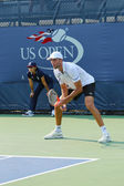 Professional tennis player Ivo Karlovic during qualifying match match at US Open 2013 — Stock Photo