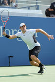 Professional tennis player Robby Ginepri during qualifying match match at US Open 2013 — Stock Photo