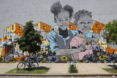 Mural art at East Williamsburg in Brooklyn — Stock Photo