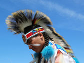 Unidentified Native American at the NYC Pow Wow — Photo