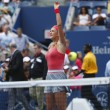������, ������: Two times Grand Slam champion Victoria Azarenka serving during quarterfinal match against Ana Ivanovich at US Open 2013