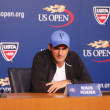 Seventeen times Grand Slam champion Roger Federer during press conference at Billie Jean King National Tennis Center — Stock Photo #51397241
