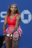 Seventeen times Grand Slam champion Serena Williams during her final match at US Open 2013 — Stock Photo
