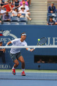 Twelve times Grand Slam champion Rafael Nadal during semifinal match at US Open 2013 against Richard Gasquet — Foto de Stock
