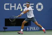 Twelve times Grand Slam champion Rafael Nadal during semifinal match at US Open 2013 against Richard Gasquet — Stock Photo