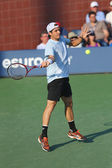 Professional tennis player Tommy Haas during first round singles match at US Open 2013 — Stock Photo