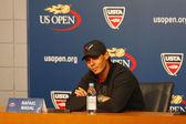 Thirteen times Grand Slam champion Rafael Nadal during press conference at Billie Jean King National Tennis Center — Stock Photo