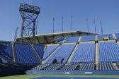 Luis armstrong stadion at de billie jean king national tennis center klaar voor ons open toernooi — Stockfoto