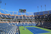 Arthur Ashe Stadium at the Billie Jean King National Tennis Center ready for US Open tournament — Stock Photo
