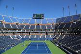 Stade arthur ashe le jean billie king centre national de tennis prêt pour nous tournoi open — Photo