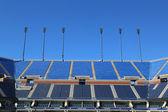 Arthur ashe stadium der billie jean king national tenniscenter bereit für uns open turnier — Stockfoto
