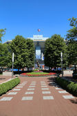 アーサー ・ アッシュ ・ スタジアムで、ビリージーン王ナショナル テニス センター私たちの準備ができてオープン トーナメント — ストック写真