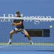Professional tennis player Tomas Berdych practices for US Open 2014 at Billie Jean King National Tennis Center — Stock Photo #51705555