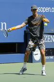 Professional tennis player Tomas Berdych practices for US Open 2014 at Billie Jean King National Tennis Center — Stock fotografie