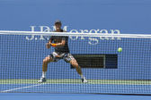 Professional tennis player Tomas Berdych practices for US Open 2014 at Billie Jean King National Tennis Center — Stok fotoğraf