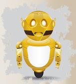 Golden vintage robot — Stock Vector