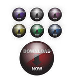 Download Button Web Design — Stock Vector