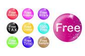 Set of free badge — Stock Vector