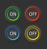 On and off buttons — Stock Vector