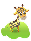 Sevimli zürafa çizimi — Stok Vektör