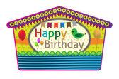 Birthday greeting cards — Stock Vector