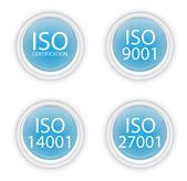 Blue iso buttons — Stock Vector