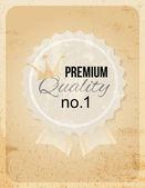 Retro premium badge — Stock Vector