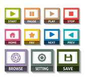 Flat design icons for Web design — Stock Vector