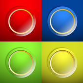 Blank color buttons — Stock Vector
