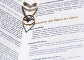Wedding Rings and Marriage Certificate — Foto de Stock