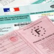 Stock Photo: Avis de contravention code de lroute