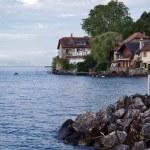 Picturesque vilage on Lake Geneva - Nernier in France — Stock Photo #12820342