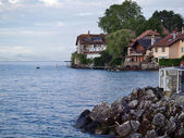 Picturesque vilage on Lake Geneva - Nernier in France — Stock Photo