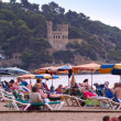 Holidaymakers In Lloret De Mar, Spain — Stock Photo