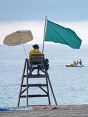Lifeguard in Lloret de mar, spain — Stock Photo