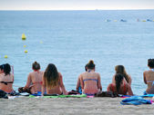 Holidaymakers In Lloret De Mar — Stock Photo