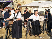 Festival of the grape harvest in chusclan village, south of Fran — Stock Photo