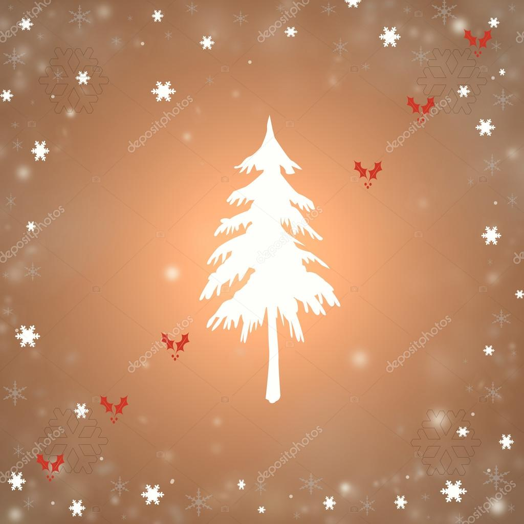 Christmas background with a fir and snowflakes — Stock Photo #16942357