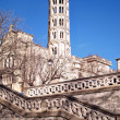 Fenestrelle Tower, Saint-Theodorit Cathedral in Uzes - Stock Photo